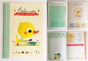 Découvrez le nouveau carnet avec ses tableaux de diversification alimentaire et ses photos souvenirs