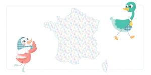 la carte de France des maternités diffusant gratuitement le carnet des premiers jours