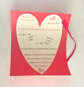 Jolie carte DIY et poème pour annoncer sa grossesse à sa mère