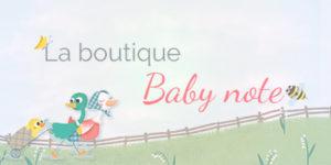 Découvrez la boutique Babynote avec les carnets et objets