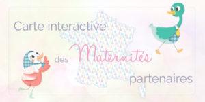 Une carte interactive pour retrouver les maternités distribuant gratuitement le carnet babynote