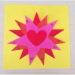 Une carte souvenir en étoile pour la fête des mamans