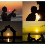 Des astuces pour prendre de jolies photos famille au coucher du soleil