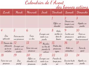 Modele Calendrier De L Avent.Calendrier De L Avent Diy Bonnes Actions Baby Note