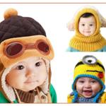 De jolis bonnets d'hiver pour bébé