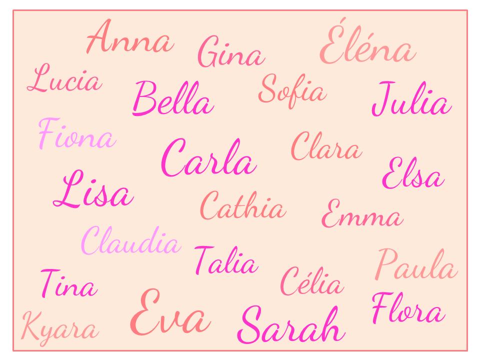 Recherche prénom de fille pas courant