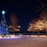 La magie de Noël et les illuminations extérieures