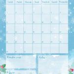 Téléchargez gratuitement le calendrier de janvier