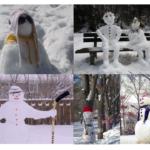 Des photos drôles et originales de bonhommes de neige