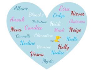 Sélection de prénoms d'hiver pour les petites filles