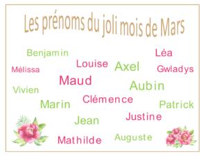 Idées prénoms filles et garçons pour le mois de mars