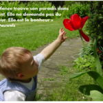 Très belle citation sur l'enfance et le bonheur