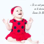Téléchargez une citation célèbre de Simone de Beauvoir sur la femme