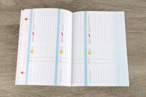 Tableaux de suivi du nouveau né dans un carnet naissance