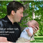Citation et jolie photo d'un père et son fils