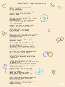 Poème Célèbre Sur Lenfant De Victor Hugo Baby Note