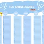 Calendrier perpétuel des anniversaires à télécharger, imprimer et personnaliser