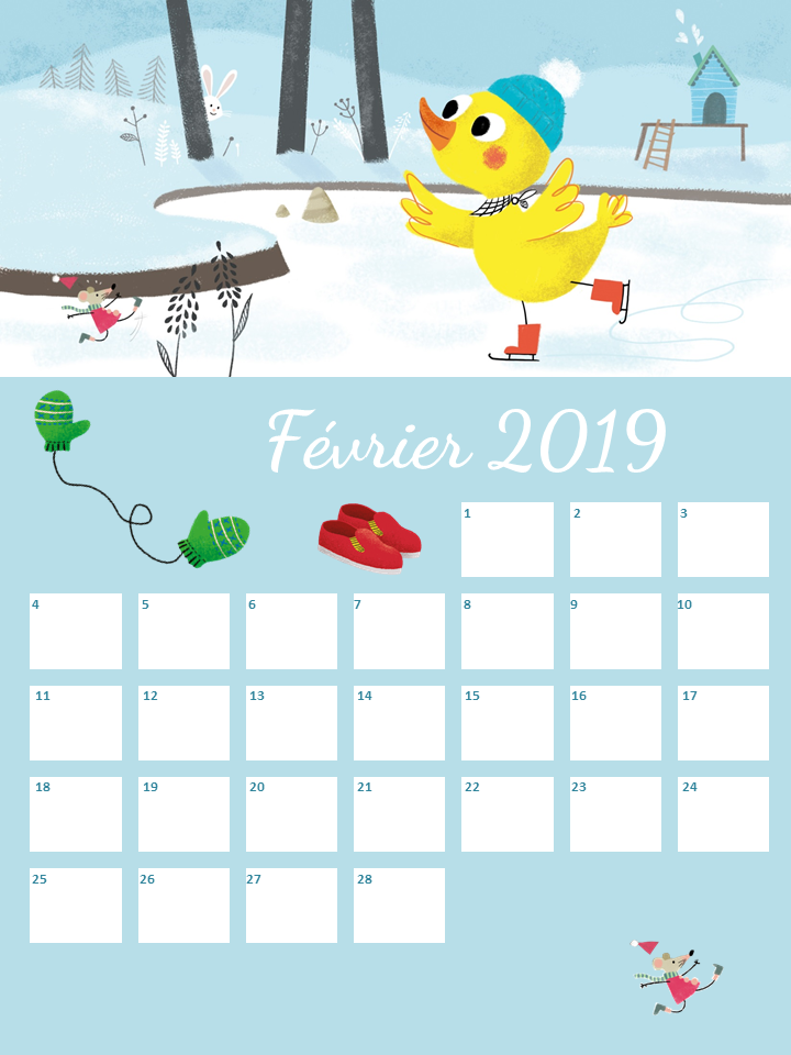 Fevrier Calendrier.Calendrier De Fevrier A Imprimer Baby Note