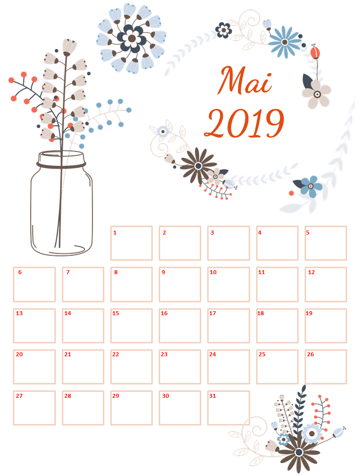 Calendrier Mai2019.Calendrier De Mai 2019 Offert Baby Note